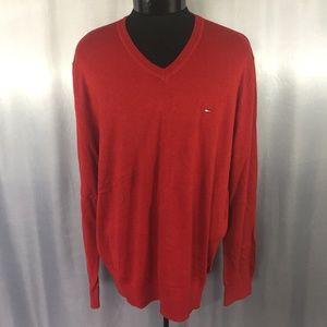 Tommy Hilfiger mens v-neck logo sweater
